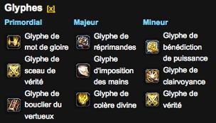 Glyphes paladin tank 4.1